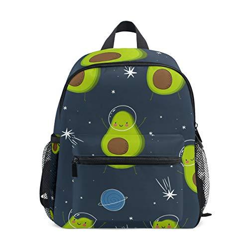 Linomo Mochila de aguacate en el espacio para niños, mochila para niños y niñas
