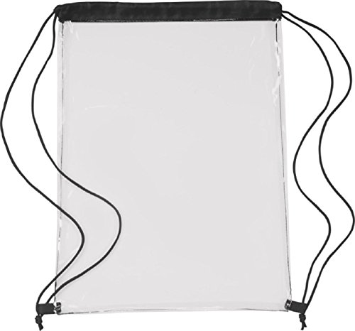 sin4sey Mochila, bolsa de deporte transparente con cordón, bolsa Gymsac, Negro (Negro) - shoulder-handbags