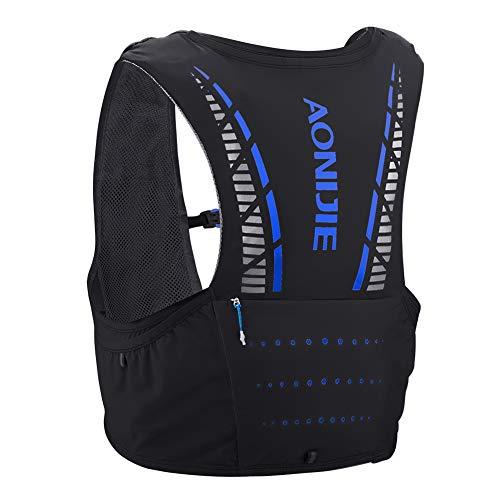 Aonijie mochila de hidratación ligera de 5 litros de volumen Maratoner Running Race Chaleco de hidratación para correr y senderismo mochila con paquete de hidratación-C933, color negro, tamaño M/L