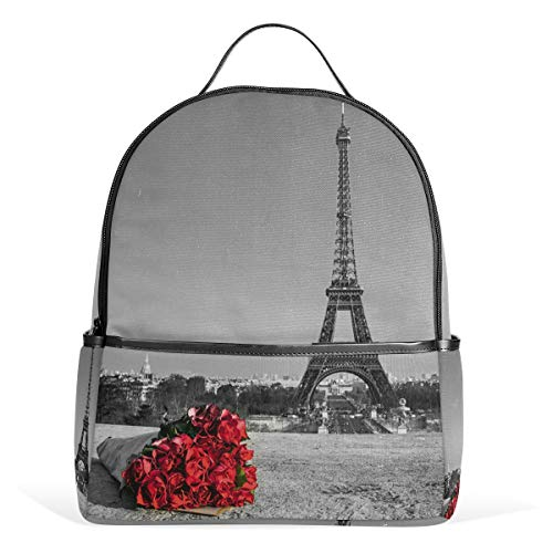 DEZIRO Roses with Eiffel - Mochila de Viaje para Senderismo