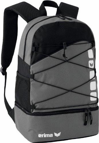 Erima GmbH 723344, Mochila Multifunción con Compartimento Inferior, Granito/Negro, 24.3 litros, 30 x 18 x 45 cm