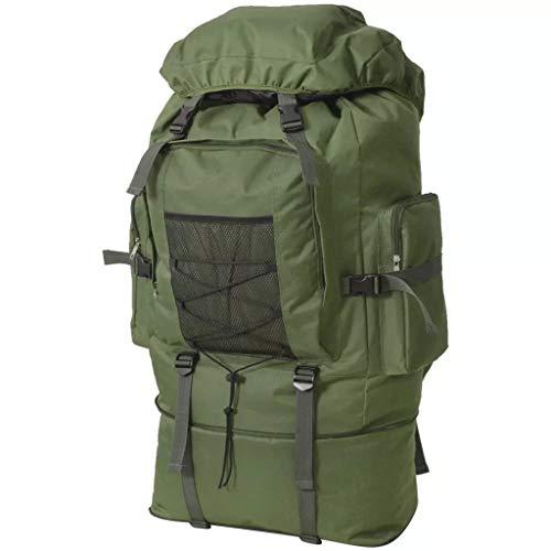 vidaXL Mochila Militar XXL 100 L Verde