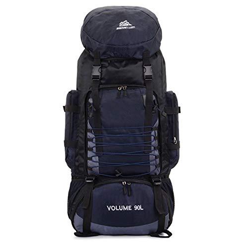 LIAWEI Mochila de viaje de montañismo de 90 litros de gran capacidad, mochila de senderismo, mochila unisex al aire libre para viajes, camping, ciclismo, senderismo y escalada de montaña