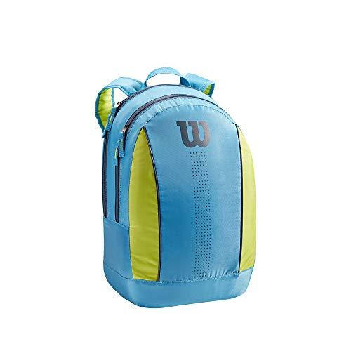 Wilson Junior Mochila de tenis, Hasta 2 raquetas, Azul/verde lima/azul marino, WR8012903001