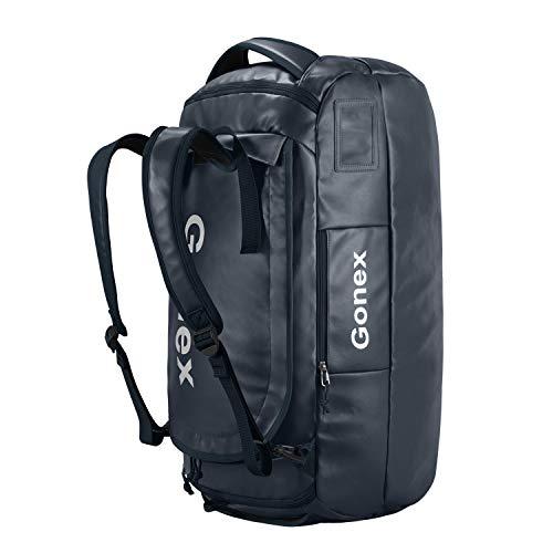 Gonex 80L Bolsa de Deporte Viaje Mochila Impermeable Duffel Bag Resistente al Agua para Deporte Acuático, Camping, Senderismo, Viajes, Gimnasio, Playa, Vela, Natación, Navegación, Surf
