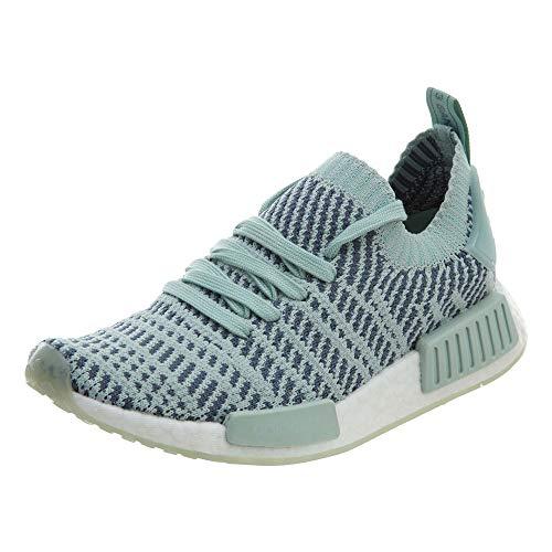 adidas Women's NMD_R1 STLT Primeknit Originals Ash Green/Rawste/White Running Shoe 8.5 Women US