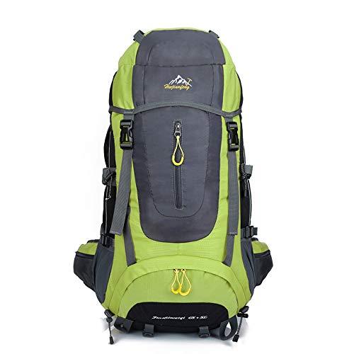 QXbecky Mochila de senderismo deportiva al aire libre impermeable bolsa de alpinismo de gran capacidad mochila mochila de viaje para clientes bolso de hombro para hombres y mujeres verde 30x20x75m