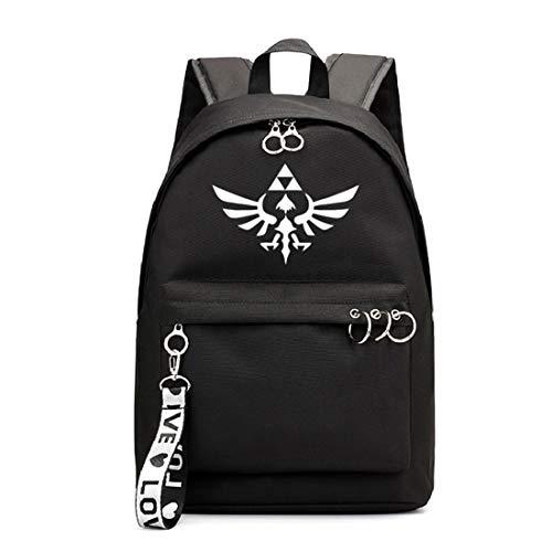 Mylxdn The Legend of Zelda Anime Mochila Escolar con Puerto De Carga Daypack Ambulante Bolso De Escuela De Hombro Bolsa para Portátil para Niños Y Niñas