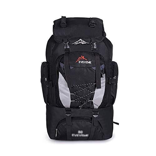 Bolsa de alpinismo impermeable de nylon Para deportes al aire libre Senderismo Trekking Camping Viajes Montañismo 80L Mochila de alta capacidad Bolsa de alpinismo impermeable Bolsa de alpinismo casual