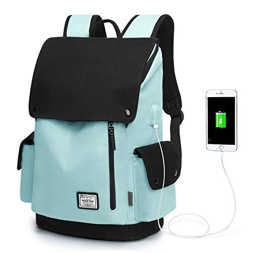 WindTook Mochila Universitaria Mujer de 15.6 Pulgadas Mochila Ordenador Portatil con Puerto de USB para Escolares Mochila de Hombre Multiusos Dackpack para Viaje Trabajo BLU