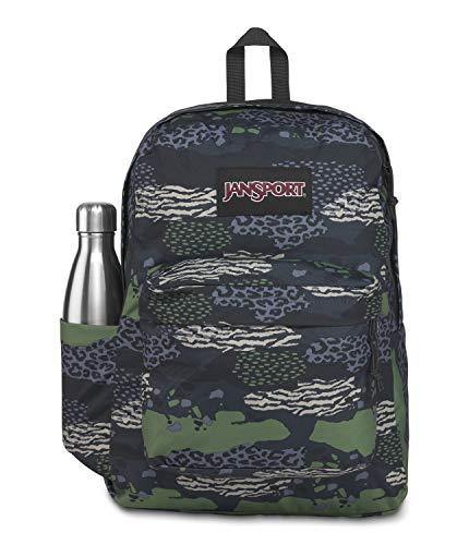 JanSport Superbreak Plus Mochila – Escuela, Trabajo, Viajes o Portátil Librero con Bolsillo para Botella de agua, Mezcla de Animales