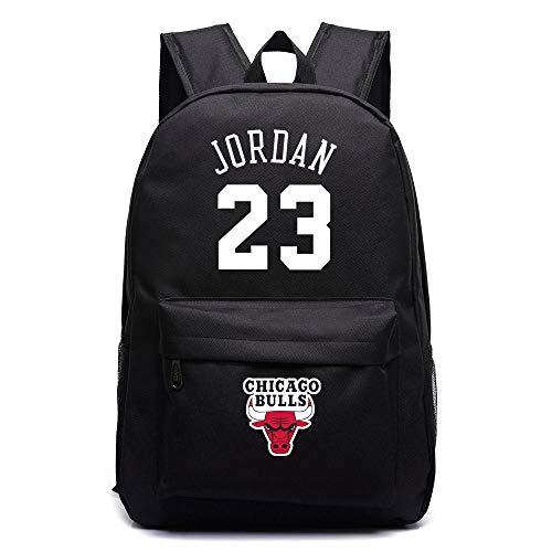 ULIIM - Mochila de lona de alta capacidad con el número 23, el nombre de Michael Jordan y el logotipo de los Chicago Bulls. Mochila de estudiante, mochila de viaje, mochila para portátil, etc.