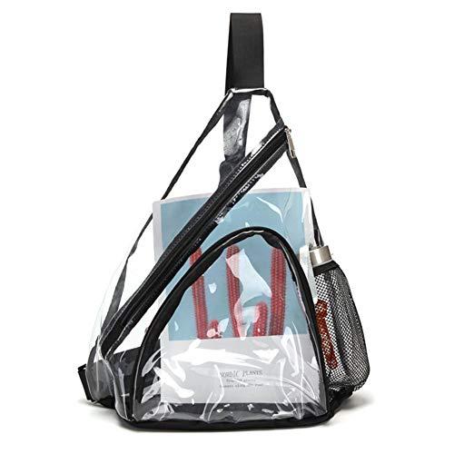 Bolso bandolera, bandolera de PVC transparente, mini mochila impermeable y resistente al desgaste para hombres y mujeres, bolso deportivo antirrobo, bolso de viaje