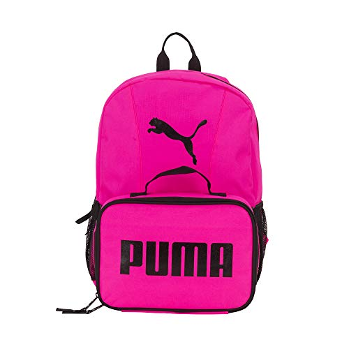PUMA Evercat Backpack & Lunch Kit Combo Mochila, Rosa Brillante, Taille unique Unisex niños