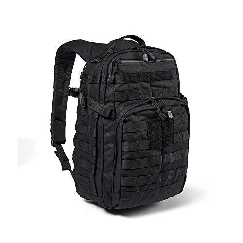 5.11 Mochila Táctica Rush 12 2.0 – Mochila Militar Molle, CCW Portación Oculta y Compartimento para Ordenador Portátil, 24 litros, Pequeña, Estilo 56561 – Color Negro