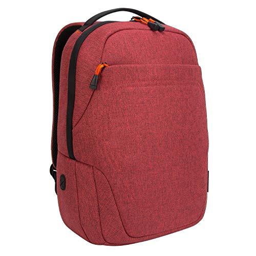 Targus Groove X2 mochila 27 L, práctica mochila para portátil hasta 15', mochila impermeable ideal para la universidad o como mochila de trabajo – rojo oscuro, TSB95202GL