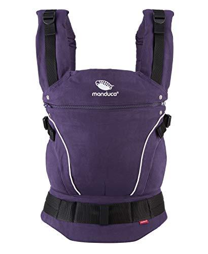 manduca First Baby Carrier  PureCotton  Mochila Portabebe Ergonomica, Algodón Orgánico, Extensión de Espalda Patentada, para Recién Nacidos y Bebés de 3,5 a 20 kg (PureCotton, Purple (purpúreo))