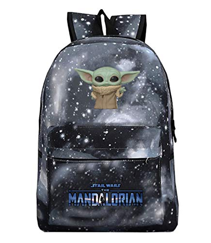Mochila YODA, mochila de estudiante Yoda Mandalorian, mochila escolar, mochila para computadora portátil para niños y niñas, mochila de ocio (estilo 2)