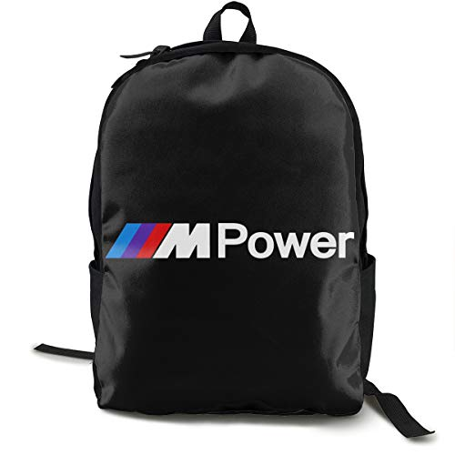 N / A B-M-W Power Pack Classic Mochila Escolar Negro Bolsa de viaje para el trabajo de poliéster Unisex Escuela