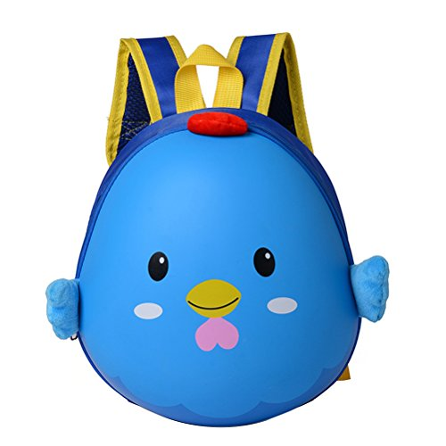 OULII Mochila Infantil Mochila Preescolar Impremenable Regalos para Niños Chiquitos (Azul)