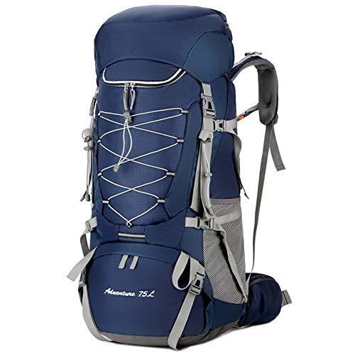 Paquete Mochila Mochila Portátil Mochila De Senderismo De 75L para Excursiones Al Aire Libre Montañismo Mochila De Escalada para Hombres ZHAOYONGLI (Color : Azul, Tamaño : 75l)