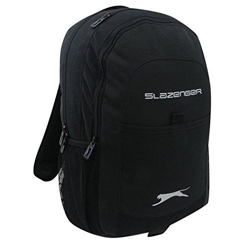 Slazenger Tech - Mochila para escuela, viaje, color negro