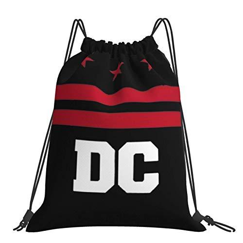 Joaffba Mochila con cordón de Gran Capacidad Washington DC Mochila Deportiva fácil de Llevar