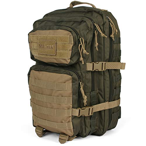 Mil-Tec US Assault Mochila Grande Ranger Green/Coyote