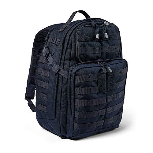 5.11 Mochila Táctica Rush 24 2.0 – Mochila Militar Molle, CCW Portación Oculta y Compartimento para Ordenador Portátil, 37 litros, Mediana, Estilo 56563 – Color Azul Marino