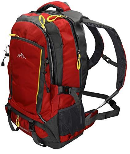 BETZ Mochila Unisex para Viaje Senderismo Camping Tiempo Libre Capacity I con 4 Bolsillos Volumen de 33 litros Color Rojo