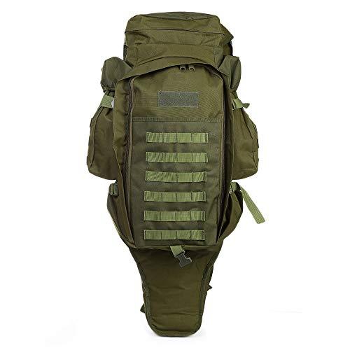 LOLPI - Mochila militar para exteriores, 60 L, para caza, tiro, camping, senderismo, viajes, color verde, tamaño 40.00 x 35.00 x 10.00 cm / 15.75 x 13.78 x 3.94 in, volumen 60.0liters