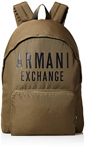 Armani Exchange - Backpack, Mochilas Hombre, Blanco (White), 10x10x10 cm (W x H L)