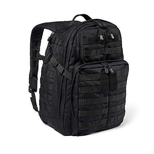 5.11 Mochila Táctica Rush 24 2.0 – Mochila Militar Molle, CCW Portación Oculta y Compartimento para Ordenador Portátil, 37 litros, Mediana, Estilo 56563 – Color Negro