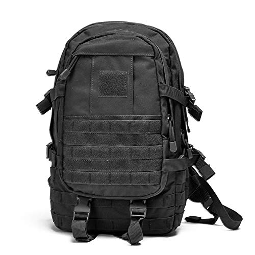 XRPXRP Mochila táctica de ataque de 40 l impermeable militar Molle mochila militar mochila al aire libre senderismo camping senderismo caza, Black (Negro) - 336858