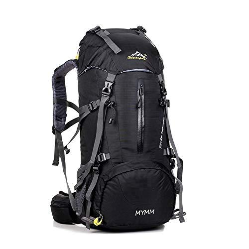 MYMM Mochila de 50/80L, Ideal para Deportes al Aire Libre, Senderismo, Trekking, Camping Travel, Escalada. Bolso Impermeable del Alpinismo, Daypacks Que suben del Recorrido, Mochila (Negro, 50L)
