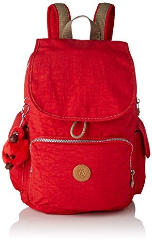 Kipling City Pack, Mochilas para Mujer, Rojo (True Red C), 32x37x18.5 cm