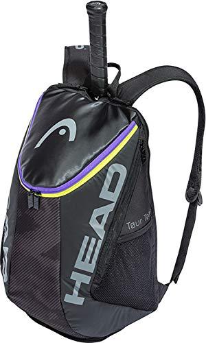 Head Backpack Tour Team-Mochila de Tenis para 2 Raquetas con Correas Acolchadas para el Hombro y Compartimento para Zapatos, Color Morado, Unisex, Negro/Mixto