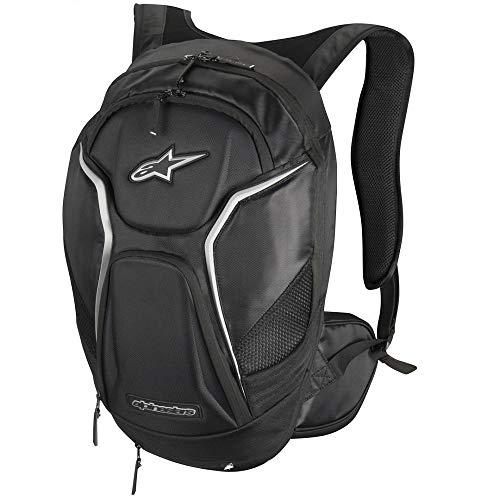 Alpinestars–Mochila Tech Aero, color negro y blanco