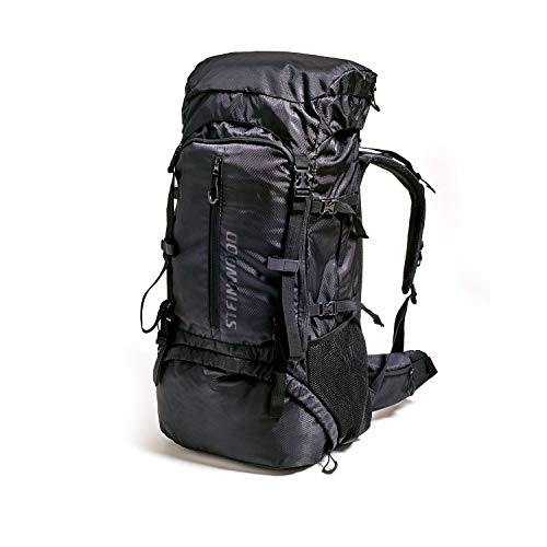 Steinwood Mochila de Trekking Impermeable 70 litros, Mochila para Senderismo, hidrofóbico con Protector de Lluvia