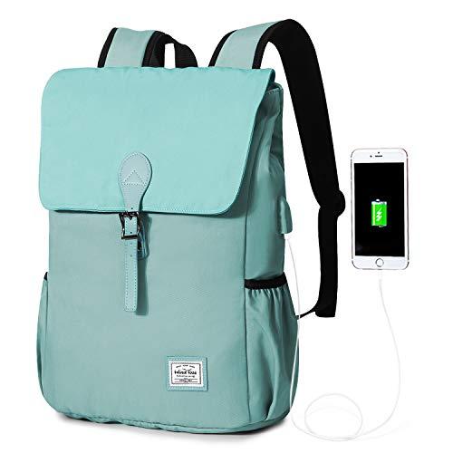 WindTook Mochila Tipo Casual 15.6 Pulgadas Mochila Ordenador Portátil Mujer Laptop Backpack Mochila Escolar Bolso Neotbook Impermeable Mochilas para Universiteria Trabaja Viaje 31x16x41CM Azul