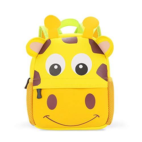 JINYJIA Mochila para Niños, Animales Bolsa Preescolar Mochila, Escuela Mochilas Infantiles, Dibujo de Animal Lindo, para Niñas & Niños de 2-5 Años (Jirafa)
