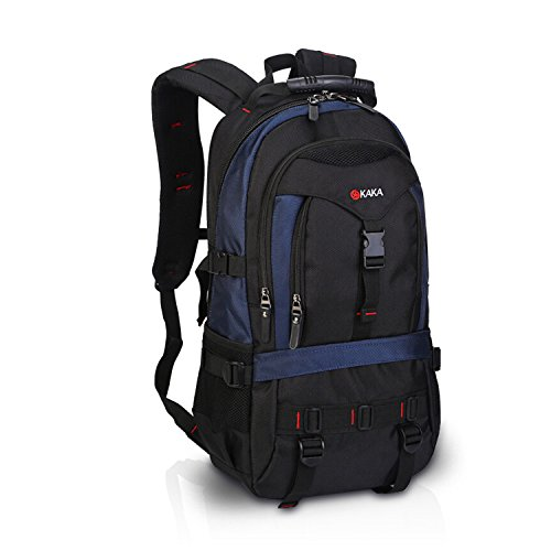 FANDARE Recorrido Alpinista Mochila Morral al Aire Libre Viaje Escuela Bolso Backpack para Ordenador Portátil 17'' Pulgadas Mujeres Hombres Oxford Poliéster Azul