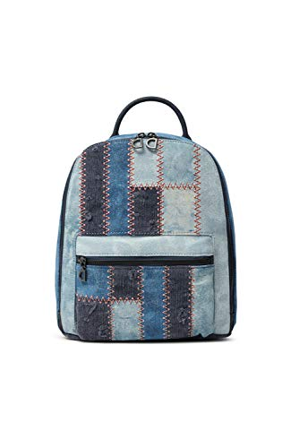 Desigual MEDIUM, Denim Backpack-Mochila (tamaño mediano) para Mujer, azul