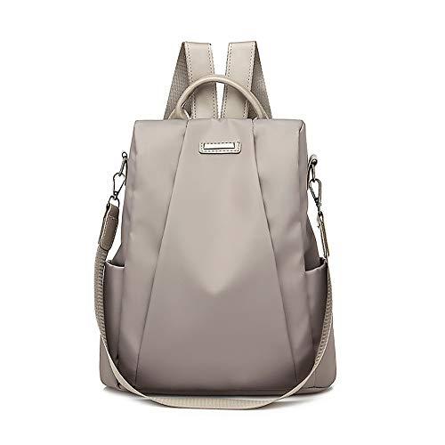Mujer Mochila de viaje femenina Bolsa de viaje antirrobo Mochila de tela Oxford Sencilla y elegante casual bolso cuero bandolera moda cuero backpack