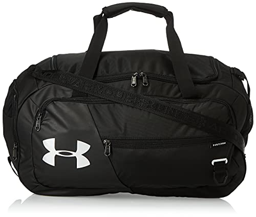 Under Armor Undeniable Duffel 4.0, bolsa de deporte compacta, bolso de hombro impermeable, negro, 41L