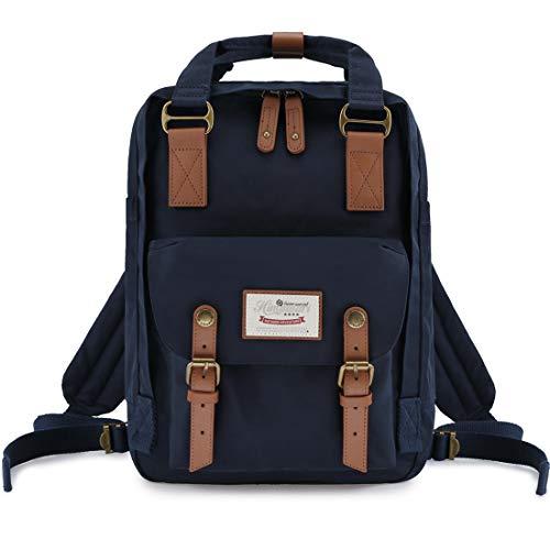 Himawari Mochila Impermeable 14.9' Colegio Vintage Bolsa de Viaje para Mujer,13inch Laptop para Estudiante