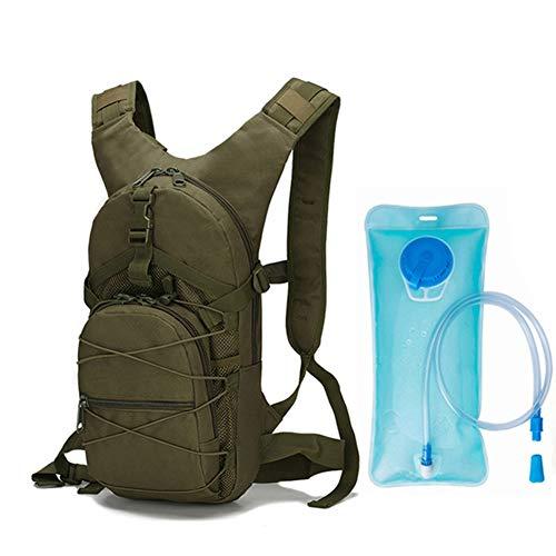 SH-QIAN Mochila Táctica De Hidratación De Camelback para Deportes Al Aire Libre Paquete Militar para Acampar Escalada Senderismo Ejército De Viajes,Armygreen