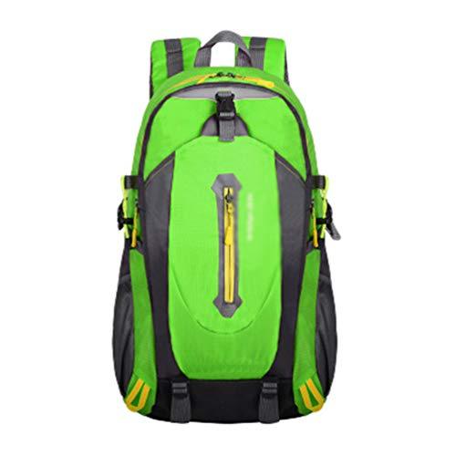 Runyue 45L Senderismo Bolsa Multifunción Impermeable Deportes Al Aire Libre Bolsa Para Acampar Trekking Pesca De Viaje Ciclismo Esquí De Mochila Verde Fluorescente 30 * 20 * 50cm
