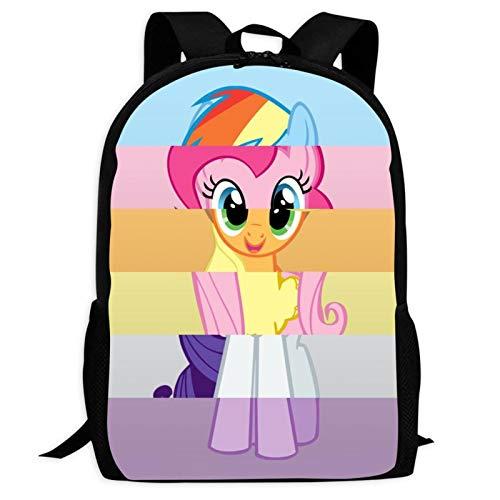 Little My P-Ony 5 mochilas para portátil con impresión 3D para niños y niñas