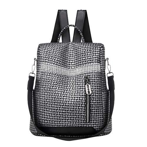 Bolsos para Mujer Bolsos Mochila Mujer Antirrobo Mochila de Cuero PU Mano Mochilas Casual Bolsa Bandolera Messenger Bag Backpack